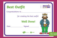 Free! – Dressedthe Kids Day Best Outfit Certificate throughout Fresh Best Dressed Certificate