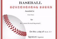 Free Editable Baseball Certificates – Customize Online throughout Editable Baseball Award Certificates