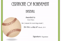 Free Editable Baseball Certificates – Customize Online with Editable Baseball Award Certificates
