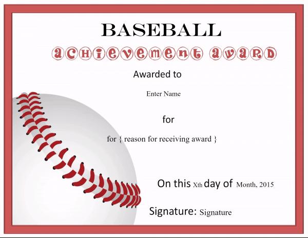 Free Editable Baseball Certificates - Customize Online With Regard To Baseball Achievement Certificate Templates