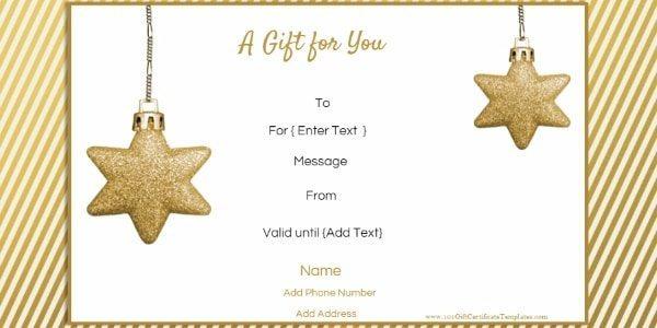 Free Editable Christmas Gift Certificate Template | 23 Designs For Christmas Gift Templates Free Typable