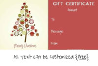 Free Editable Christmas Gift Certificate Template | 23 Designs in Unique Christmas Gift Certificate Template Free