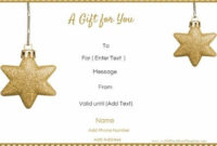 Free Editable Christmas Gift Certificate Template | 23 Designs inside Unique Christmas Gift Certificate Template Free