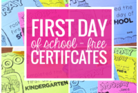 Free Editable First Day Of School Certificates – Teach Junkie with Unique First Day Of School Certificate Templates Free