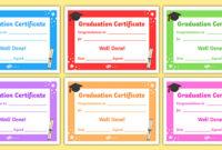 Free! – Editable Graduation Certificates – Primary regarding Best 10 Free Editable Pre K Graduation Certificates Word Pdf