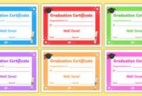 Free! – Editable Graduation Certificates throughout Fresh Editable Pre K Graduation Certificates