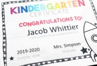 Free, Editable Kindergarten Certificates And Graduation in Fresh Kindergarten Certificate Of Completion Free