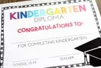 Free, Editable Kindergarten Certificates And Graduation inside Fresh Kindergarten Certificate Of Completion Free
