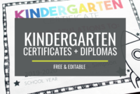 Free, Editable Kindergarten Certificates And Graduation with regard to Kindergarten Certificate Of Completion Free