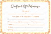 Free Editable Marriage Certificate Template in Fresh Marriage Certificate Editable Templates