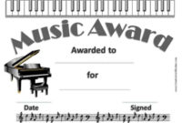 Free Editable Music Certificate Template – Free And Customizable for Best Piano Certificate Template Free Printable