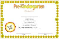Free Editable Pre K Graduation Certificates (9Th Version) In with regard to 10 Free Editable Pre K Graduation Certificates Word Pdf