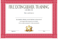 Free Fire Extinguisher Training Certificate Template 1 | Two for Fresh Firefighter Training Certificate Template