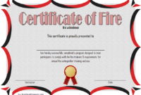Free Fire Safety Training Certificate Template 2 | Two intended for Firefighter Training Certificate Template