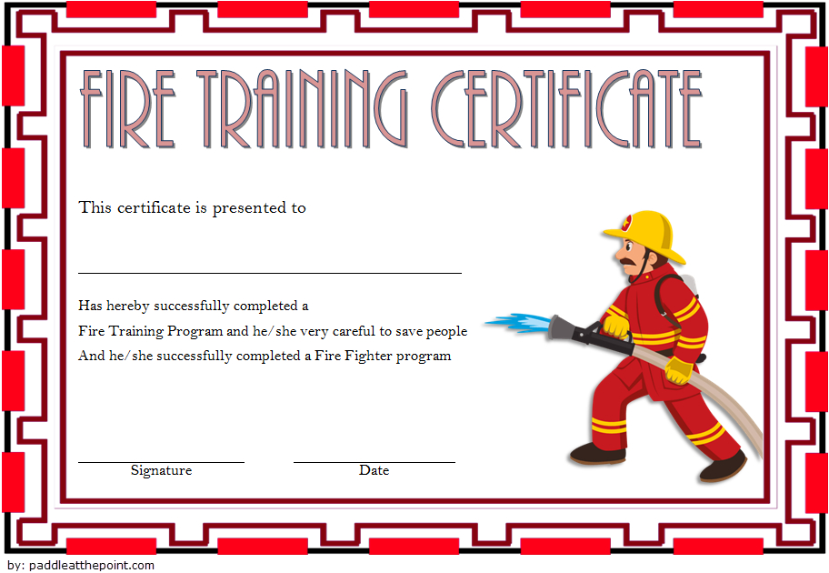 Free Firefighter Certificate Template 4 | Training With Regard To Firefighter Certificate Template