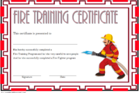 Free Firefighter Certificate Template 4 | Training within Firefighter Training Certificate Template