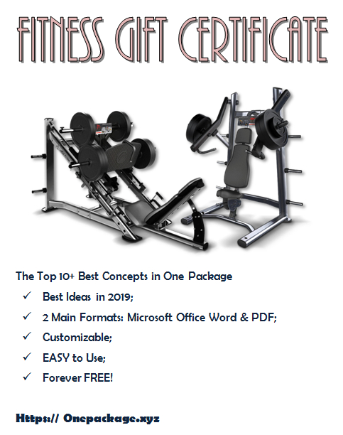 Free Fitness Gift Certificate Template | Gift Certificate in Free 10 Fitness Gift Certificate Template Ideas