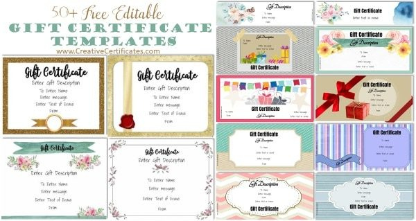 Free Gift Certificate Template | 50+ Designs | Customize Intended For Valentine Gift Certificates Free 7 Designs
