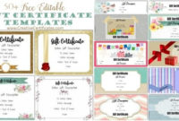 Free Gift Certificate Template | 50+ Designs | Customize throughout Birthday Gift Certificate Template Free 7 Ideas