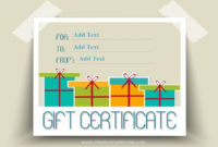 Free Gift Certificate Templates You Can Customize with regard to Fresh Holiday Gift Certificate Template Free 10 Designs