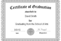 Free Graduation Certificate Templates | Customize Online intended for Free Printable Certificate Of Promotion 12 Designs