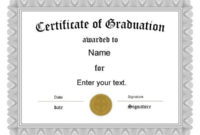 Free Graduation Certificate Templates | Customize Online intended for Grade Promotion Certificate Template Printable