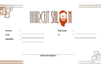 Free Haircut Certificate Template 3 | Free Haircut regarding Fresh Barber Shop Certificate Free Printable 2020 Designs