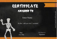 Free Halloween Costume Awards | Customize Online | Instant with Best Halloween Costume Certificates 7 Ideas Free
