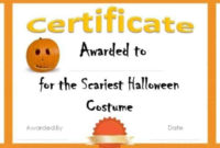 Free Halloween Costume Awards | Customize Online | Instant with Unique Halloween Costume Certificate
