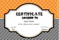 Free Halloween Costume Awards | Customize Online | Instant within Best Halloween Costume Certificates 7 Ideas Free
