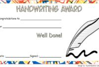 Free Handwriting Award Certificate Template 1 | Awards with regard to Handwriting Award Certificate Printable