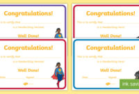 Free! – Handwriting Hero Certificate (Teacher Made) pertaining to Fresh Handwriting Award Certificate Printable