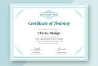 Free Hotel Training Certificate Template – Word (Doc) | Psd inside Baptism Certificate Template Word 9 Fresh Ideas