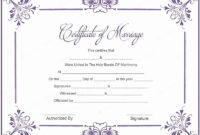 Free Marriage Certificate Download Lovely 10 Marriage in Marriage Certificate Template Word 10 Designs