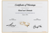 Free Marriage Certificate Template – Pdf Templates | Jotform with Marriage Certificate Editable Template