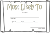 Free Most Likely To Certificate Template 6 In 2020 in Free Most Likely To Certificate Templates