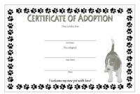 Free Pet Adoption Certificate Template Word – Pet'S Gallery inside Dog Adoption Certificate Free Printable 7 Ideas