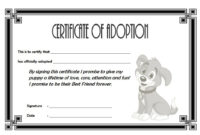 Free Pet Adoption Certificate Template Word – Pet'S Gallery throughout Best Dog Adoption Certificate Free Printable 7 Ideas