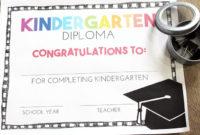 Free Pre-K And Kindergarten Graduation Diplomas – Teach Junkie throughout Fresh Kindergarten Graduation Certificates To Print Free
