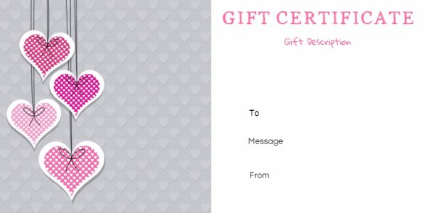 Free Printable Anniversary Gift Vouchers - Customize Online With Regard To Anniversary Gift Certificate Template Free
