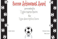 Free Printable Award Certificate Template | Award with regard to Soccer Award Certificate Template