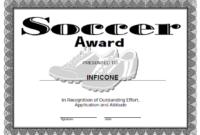 Free Printable Award Certificate Template | Certificate inside Soccer Certificate Template Free 21 Ideas