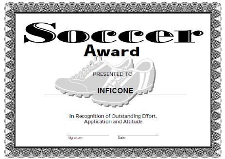Free Printable Award Certificate Template   Certificate Inside Soccer Certificate Template Free 21 Ideas