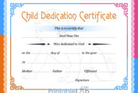 Free Printable Baby Dedication Certificate Format In Dodger throughout Unique Free Printable Baby Dedication Certificate Templates