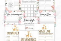 Free Printable Baby Shower Games – Volume 3 | Instant Download within Best Baby Shower Gift Certificate Template Free 7 Ideas