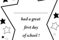 Free Printable Back To School Certificates, Stars First Day in Unique First Day Of School Certificate Templates Free