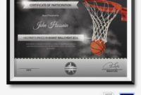 Free Printable Basketball Certificates Best Of Basketball pertaining to Fresh Basketball Gift Certificate Template