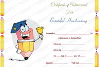 Free Printable Beautiful Handwriting Award Certificate Template inside Handwriting Award Certificate Printable