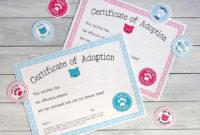 Free Printable Cat Adoption Kits | Chickabug | Pet Adoption with Best Cat Adoption Certificate Templates