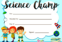 Free Printable Certificate Template For Kids ⋆ بالعربي نتعلم in Best Free 6 Printable Science Certificate Templates
